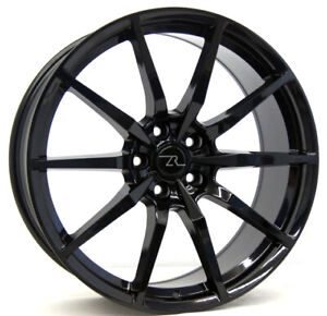 20 Gloss Black Shelby Gt350 Mustang Wheels 20x8 5 20x10 Flow Formed Rims 05 20