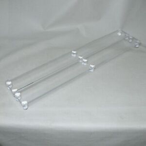 Lucite Acrylic Countertop Display Stands Tables Pair Set 43 5 Long Great