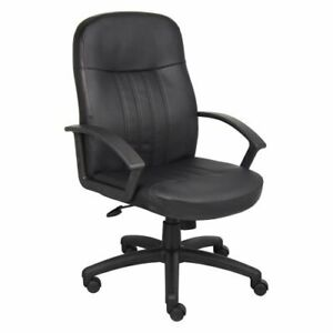 Bonded Leather Executive Manager Office Desk Chair Heavy Duty High Back Rolling