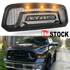 Grille Grill For Dodge Ram 1500 2013 2018 Abs Bumper Grill Mesh Rebel Style New