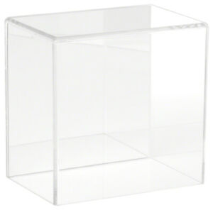 Plymor Brand Acrylic Display Case With No Base mirrored 6 W X 4 D X 6 H