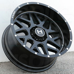 22x10 Full Black Wheels Hostile H108 Sprocket 6x135 25 set Of 4 87