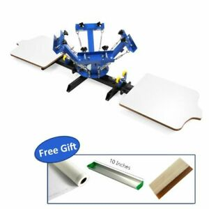 4 Color 2 Station Silk Screen Printing Press For Diy T shirt Printing