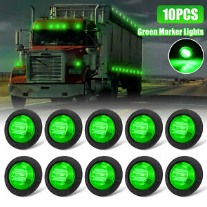 10x Green 3 4 Led Rock Light Under Body Lights For Car Truck Trailer Lorry Rv