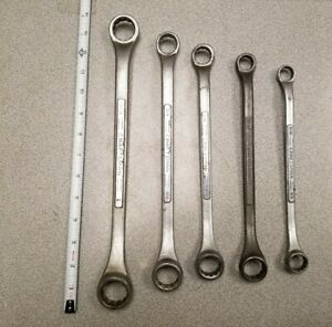 Vintage Set Of 5 Craftsman Double Box End Offset Wrenches Usa