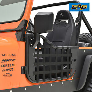 Eag Matrix Tubular Door With Side View Mirror Fit For 76 95 Jeep Wrangler Cj7 Yj