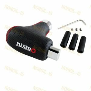 For Jdm Nismo Nissan Universal Black Leather Automatic Transmission Shift Knob