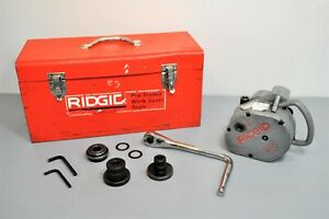 Ridgid 915 Roll Groover Pipe Grooving Plumbing Tool With Ratchet Wrench 88232