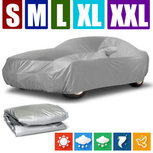 S Xxl Car Cover Waterproof Dust Resistant Uv Sun Protector Outdoor For All Sedan