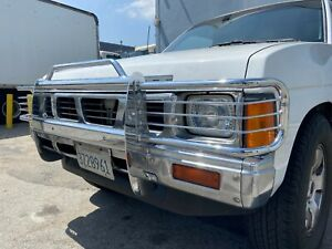 For 1986 5 1992 Nissan Pickup Truck Front Bumper Grille Guard Chrome Metal