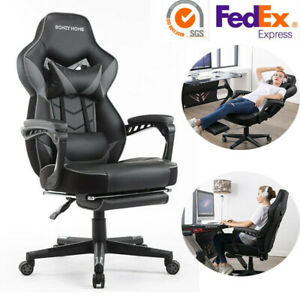 Gaming Racing Chairs Office Executive Swivel Reclining Pu Leather Computer Chair