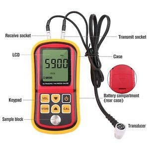 Ultrasonic Thickness Meter Digital Thickness Detector Range 1 2 220mm