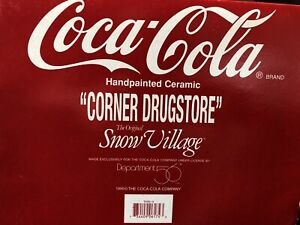 Dept 56 Snow Village Coca Cola Corner Drugstore 5484-4