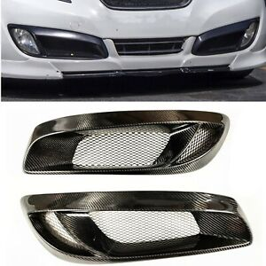 Real Carbon Fiber Front Fog Light Cover Trim For Hyundai Genesis Coupe 2008 2012
