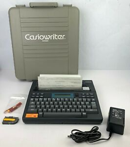 Casiowriter Cw 10 Portable Electric Battery Powered Typewriter Word Processor