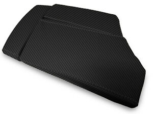 Center Console Lid Armrest Carbon Fiber Cover For Bmw E60 2003 2010 Black