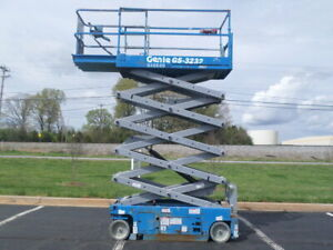 2011 Genie Gs3232 32 Electric Slab Scissor Lift 32ft Platform Lift Man Lift