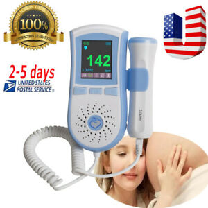 Top Fetal Doppler Baby Heartbeat Monitor Color Lcd Dual Interface 3 Mode Fda Ce