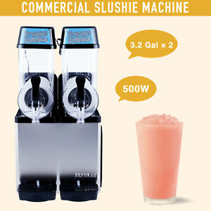Commercial Slushie Machine Beverage Making 500w Stainless Steel Frozen Drink 24l