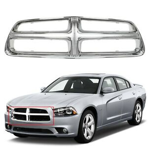 New Front Grille Shell Chrome For 2011 2014 Dodge Charger Plastic