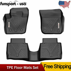For 2013 14 15 2016 Lincoln Mkz Ford Fusion Floor Mats Liner Rubber Tpe 3pcs Set