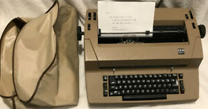 Vintage Ibm Selectric Ii 2 Correcting Typewriter Beige Cover Ribbon Ink