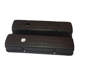 Moroso Black Valve Covers Sbc