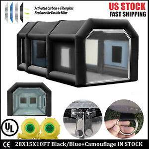 Inflatable Spray Booth Paint Tent Mobile Portable Car Workstation Aaa