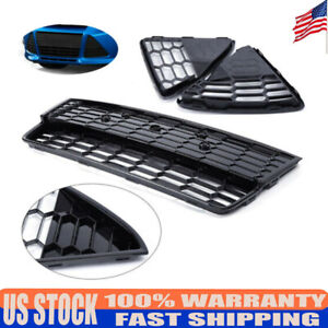 3 Front Bumper Lower Grille Honeycomb Grille Fits 2012 2013 2014 Ford Focus New