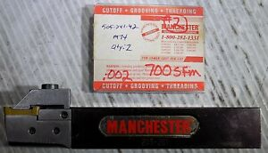 Manchester 203 281 R h Grooving Lathe Tool Holder And 3 Carbide Cermet Inserts