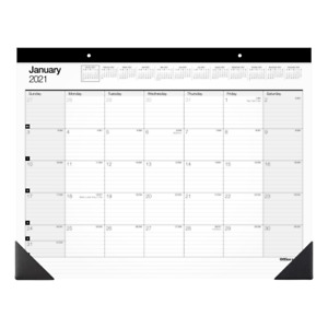 Office Depot Monthly Desk Pad Calendar 22 X 17 White Sp24d0021