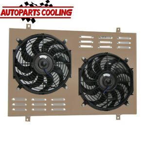 Aluminum Shroud Fan For 1985 1997 87 Ford F150 F250 F350 Bronco 5 0l 5 8l V8 Us