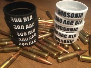 300 AAC BLK BLACKOUT SUBSONIC ID MAG BANDS COMBO PACK OF 10 FREE SHIPPING $18.99