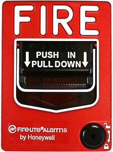 Fire Lite Alarms Bg 12 Fire Alarm Dual Action Manual Pull Station Red