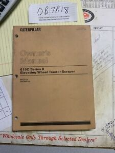 Caterpillar 615c Series 2 Wheel Tractor scraper Operation Maintenance Manual