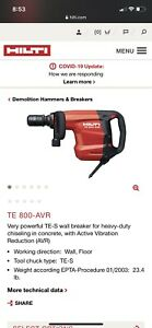 Hilti Te 800 avr Electric Demolition Hammer Chiseling Breaker 120v New Open Box