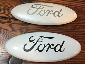 9 Ford white f 150 Tailgate Or Grille Emblem stick On custom Paint oem Dealer