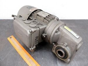Nord Electric Motor 230 460 3 ph Speed Reducer Gear Drive Fits Conveyor Unicase