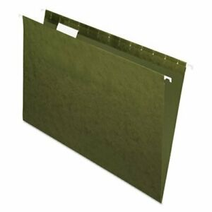 Pendaflex Hanging File Folders 1 5 Tab Legal Standard Green 25 box pfx81622