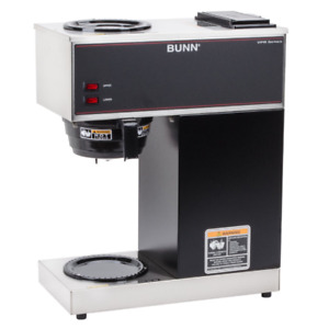 Bunn Vpr 33200 0000 12 Cup Pourover Coffee Brewer With 2 Warmers