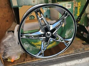 22 X 9 Inch Velocity Chrome Wheels Rims And 4 New Tires Fit 6x120 Srx Cadillac