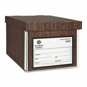 Business Source Storage Boxes W lid 650 Lb 10 x12 x15 12 ct Wn bsn26751