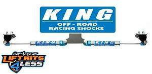King Shocks Dual Steering Stabilizer For 2005 2020 Ford F 250 F350 Super Duty