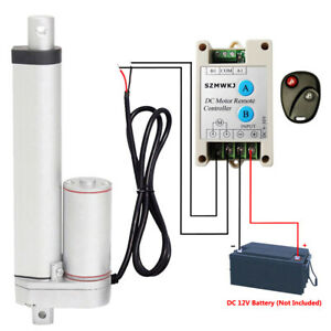 High Speed 8 Linear Actuator W Remote Control Heavy Duty 12v Dc 14mm s 220lbs