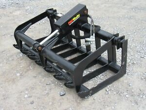 50 Heavy Duty Root Grapple Bucket Attachment Fits Bobcat Mt50 Mt52 S70 Or 453