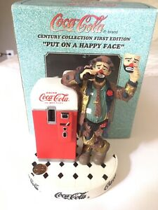 COCA COLA -  EMMETT KELLY Figurine - Put On A Happy Face - Limited Edition NEW