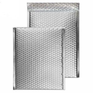 100 0 Glamour Metallic Silver Poly Bubble Mailers Envelopes 6x10 Dvd Wide Cd
