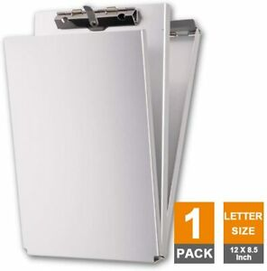 Dual Storage Aluminum Clipboard Letter Size And Memo Size Self Locking Latch
