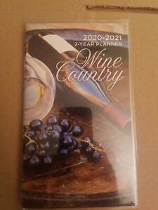 2020 2021 2 year Pocket Planner Wine Country Free Shipping