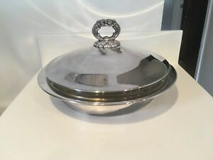 Newburyport Silver Plated Covered Casserole Serving Bowl 4341 Vintage